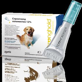 Капли Стронгхолд для собак весом 20-40кг (капли от блох, яиц блох, клещей и глистов) (1 пипетка)