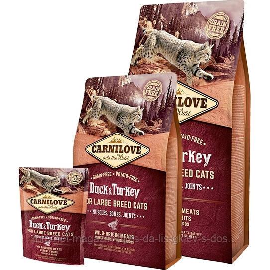 Carnilove Duck and Turkey for Large Breed Cats корм с уткой и индейкой для кошек крупных пород, 400г