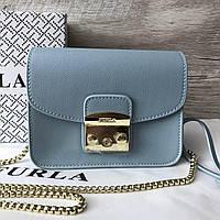 6be47a819027 Кожаная сумка клатч в стиле Furla metropolis золотая фурнитура