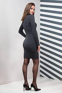 Однотонное платье вязка  Basic