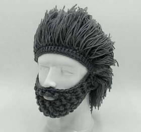 Шапка прикол перуку волосся лижна шапка