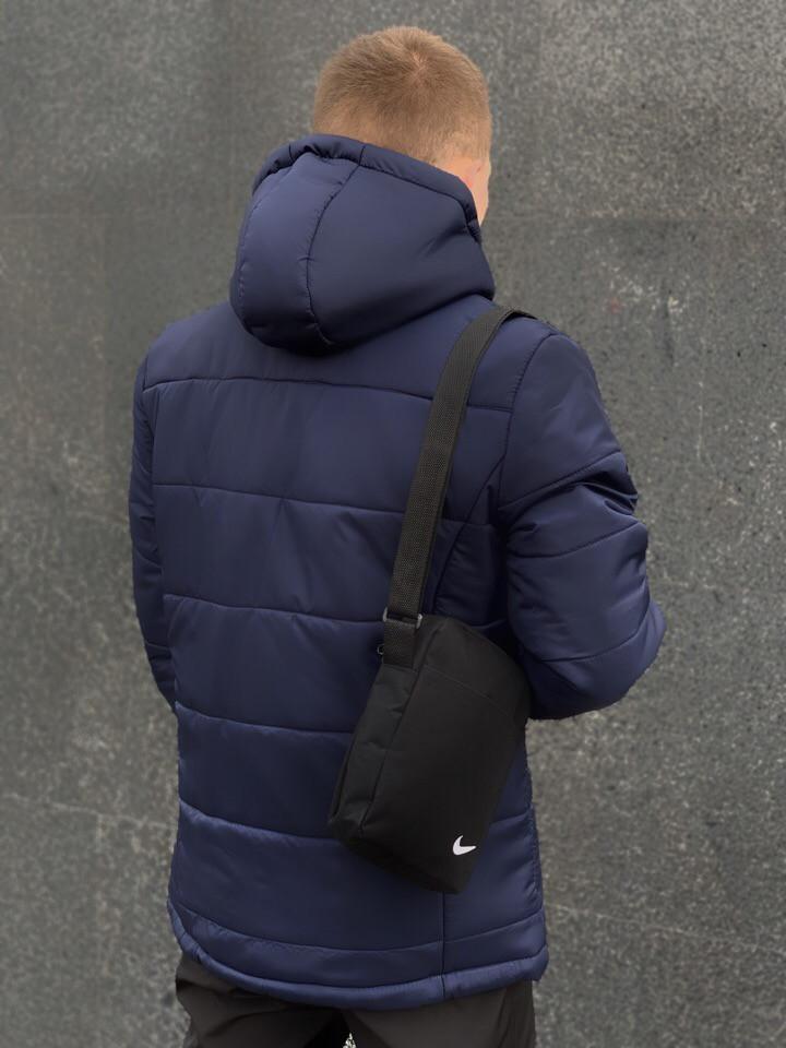 4903785c ... Мужская зимняя куртка в стиле Nike (dark blue),синяя мужска куртка  Реплика ААА