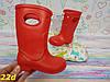 Детские резиновые сапоги непромокаемые красные, фото 5