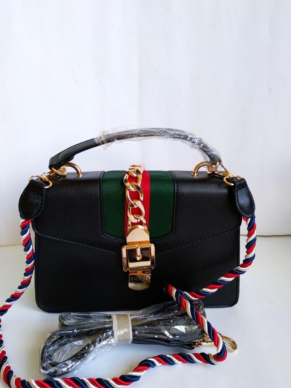beda54399cd5 Женская Черная Сумка-клатч в Стиле Gucci Гуччи — в Категории