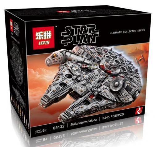"""Конструктор Lepin 05132 """"Сокол Тысячелетия"""" (аналог Lego Star Wars 75192), 8445 дет"""