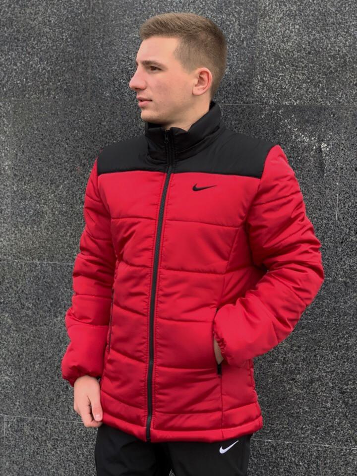 7b8ea464 Мужская зимняя куртка Nike (red/black), красная мужска куртка найк на зиму