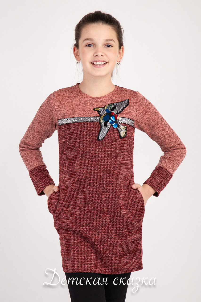 12333a28e74b Платье-туника для подростков «Жар-Птица» от 8 до 12 лет, цена 220 ...