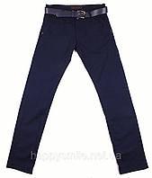 Мужские модные брюки с ремнем ZILLI, индиго