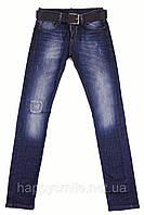 Мужские дизайнерские джинсы с ремнем Dsquared2, темно-синие
