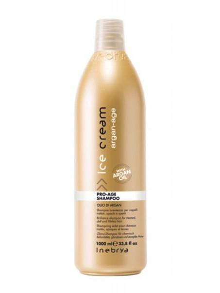 Шампунь антивозрастной с аргановым маслом для окрашенных волос Inebrya Pro Age