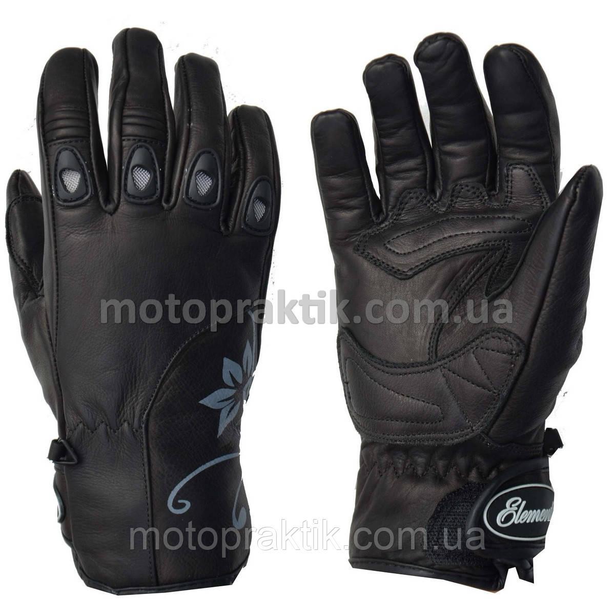 Elemento 206 Lady Gloves Blk/Gry, L Мотоперчатки жіночі