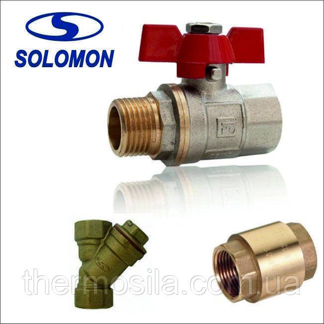 "НАБОР SOLOMON (Кран  PN40  1/2"" + фильтр 1/2"" + клапан лат.шток 1/2"")"