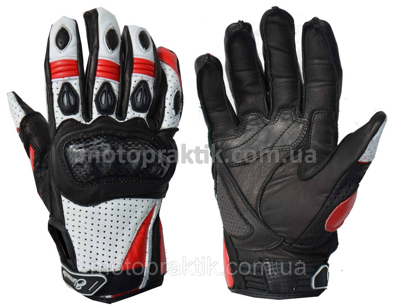 Elemento 188 Free Ride Gloves Blk/Wht/Red, L Мотоперчатки дорожные