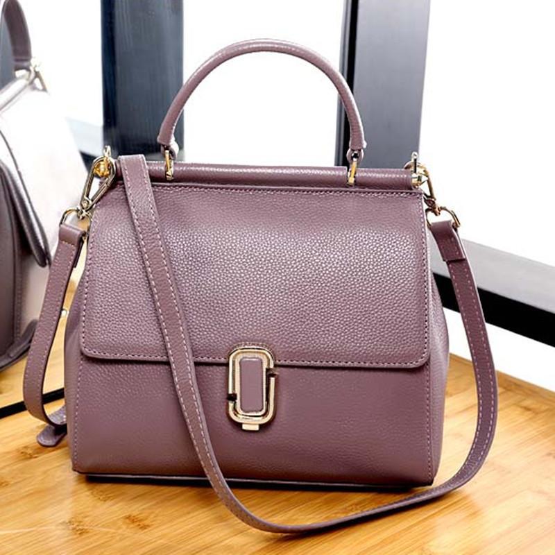 5de72870b9ee Женская сумка из натуральной кожи средних размеров фиолетовая опт ...