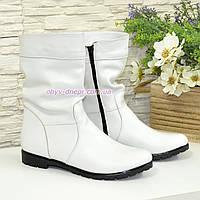 """Демисезонные женские ботинки из натуральной кожи белого цвета ТМ """"Maestro"""", фото 1"""