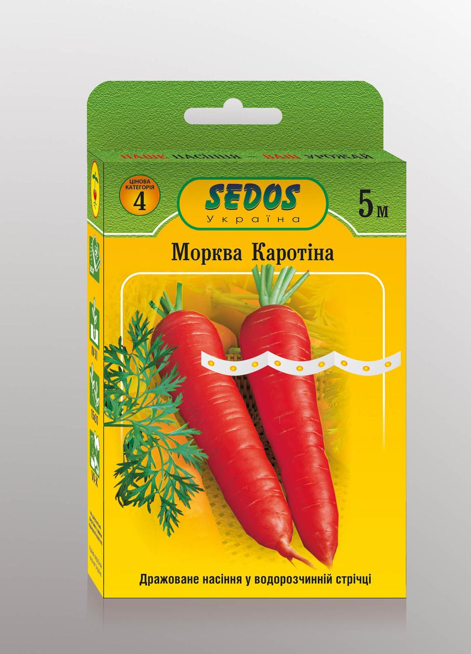 Семена на ленте морковь Каротина 5м ТМ SEDOS
