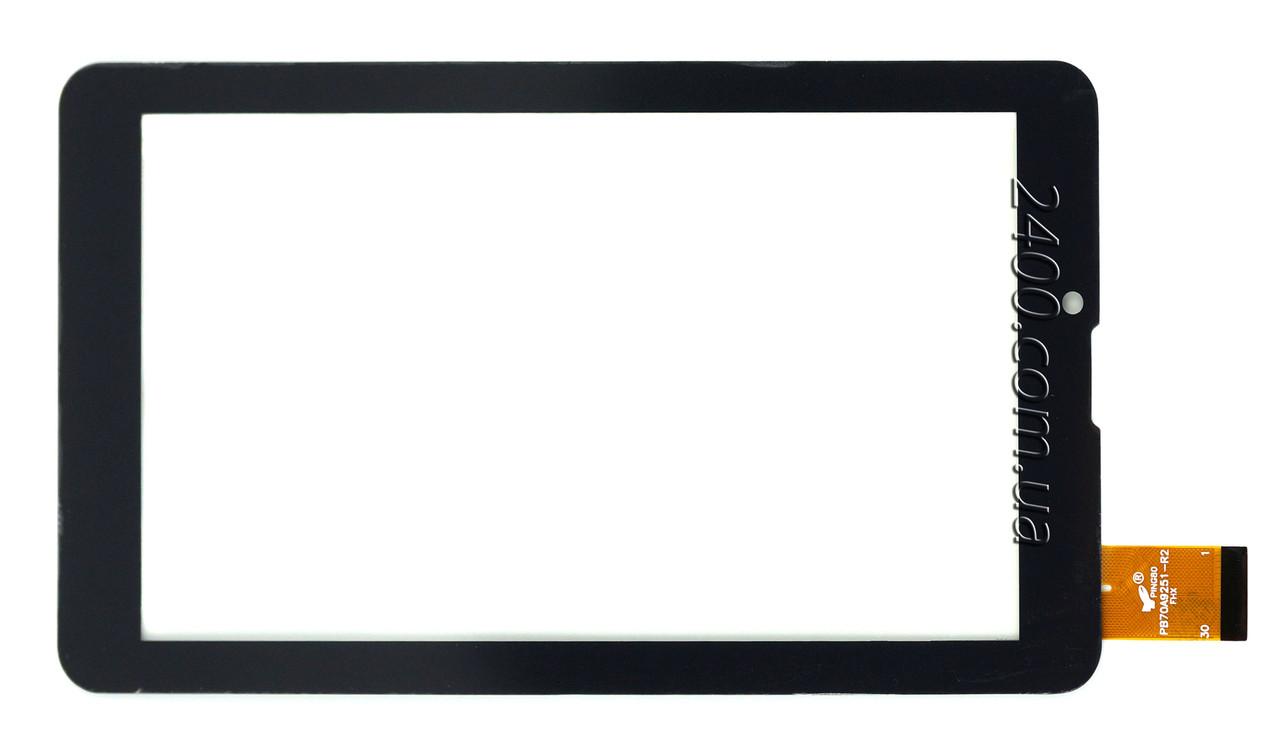 Сенсор, тачскрин для Assistant AP-725 3G черный 30pin 184*104 мм, тест 100%