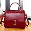 Жіноча шкіряна сумка червона середнього розміру опт