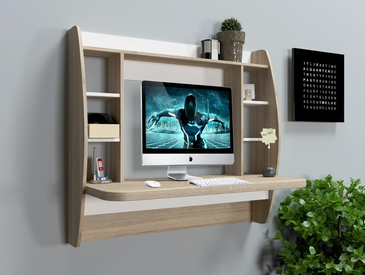 "Стол компьютерный навесной  ""AirTable - I SW"" (Дуб cонома) 110х49х100 см."
