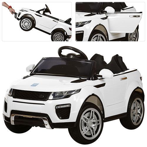 Детский электромобиль Land Rover Style M 3213 EBLR-1: 2.4G. EVA-колеса, Кожа - БЕЛЫЙ-купить оптом