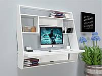 """Стол компьютерный навесной 100х50х100 см. """"AirTable-III WT"""" Белый, фото 1"""
