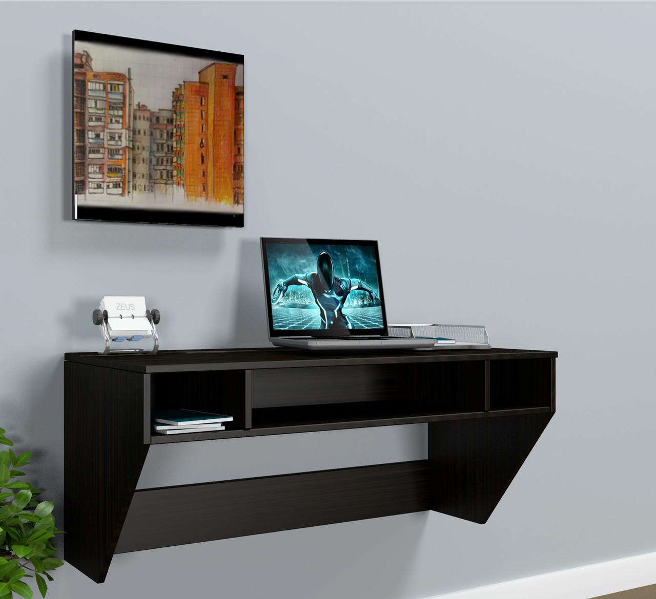 """Стол компьютерный навесной  """"AirTable-II DB Mini"""" (Венге) 110х52х50 см."""