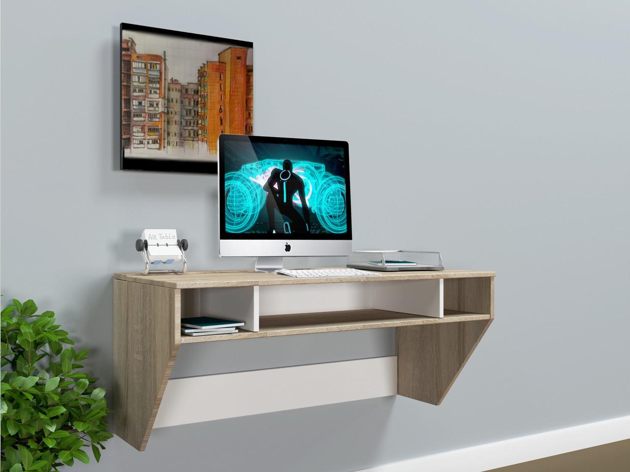 """Стол компьютерный навесной  """"AirTable-II SW Mini"""" (Дуб Сонома) 110х52х50 см., фото 1"""