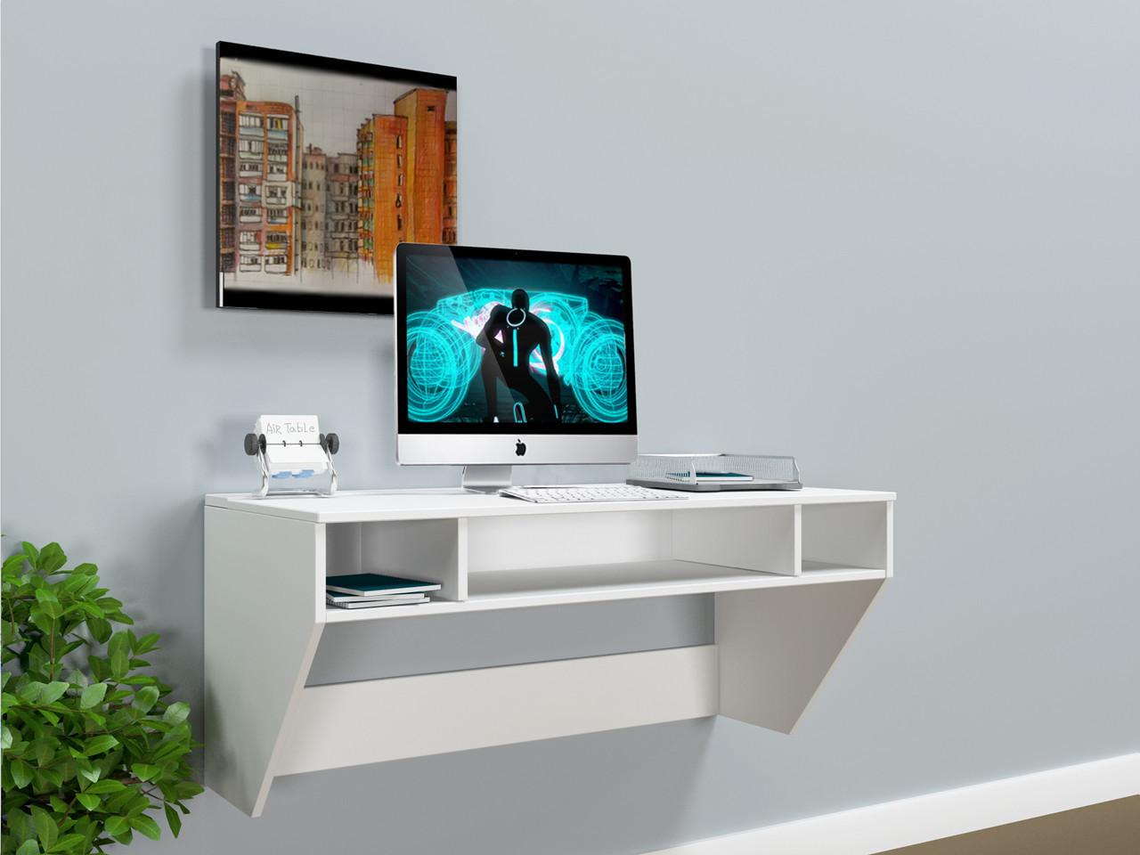 """Стол компьютерный навесной  """"AirTable - II WT Mini"""" (Белый) 110х52х50 см."""