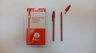 Ручка шариковая с жидкими чернилами 555-A, A-CHEN'S, красная