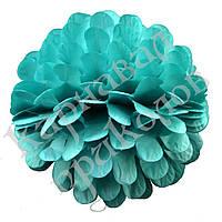 Бумажный шар цветок 20см (голубой 0001)