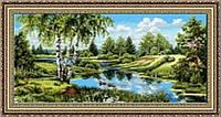 Картина гобеленовая Просторы 90х50см в багетной раме G304