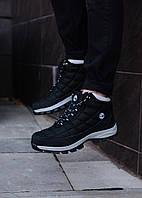 Мужские черные зимние ботинки Timberland, черные ботинки timberland, черные ботинки, ботинки timberland, фото 1