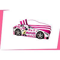 """Кровать машина """"Минни"""" для девочки принцессы + матрас и подушечка + доставка бесплатно, фото 1"""