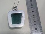 Малахитовая хризоколла кулон с натуральной хризоколлой в серебре Индия, фото 5