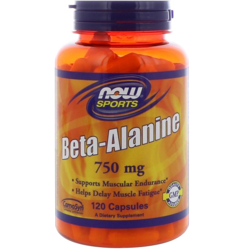 Бета-Аланин NOW Beta-Alanine 750 mg 120 caps