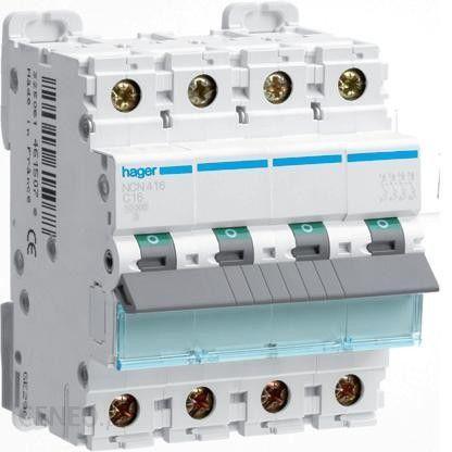 Четырехполюсный автоматический выключатель Hager 10kA 0.5-63А