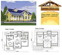 Проект дома из профилированного бруса 143 м2. Проект дома бесплатно при заказе строительства