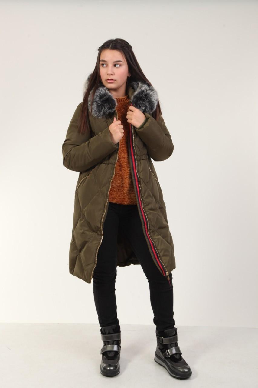 5a451b687f9 Детское зимнее пальто для девочки 19XAKI 130