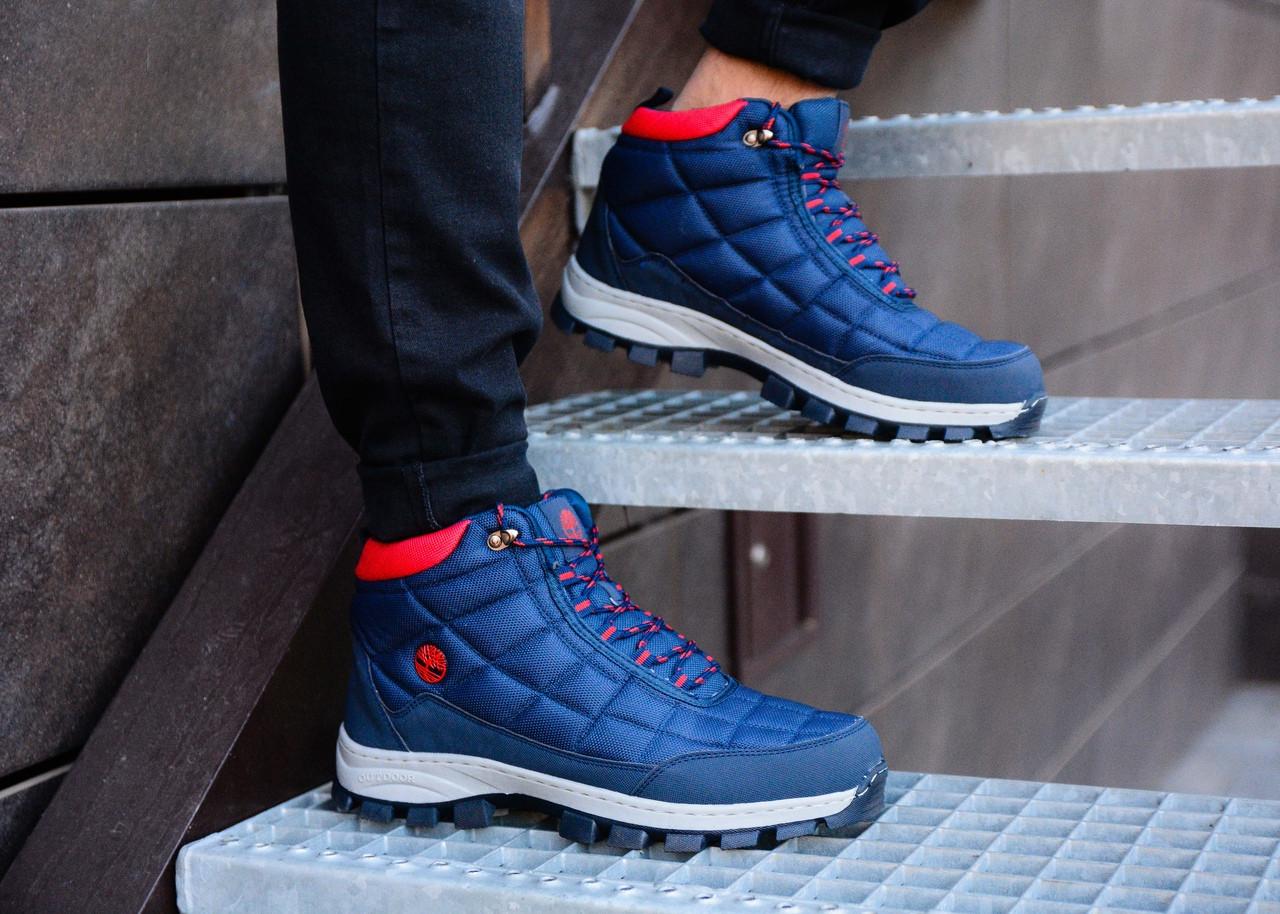 Мужские синие зимние ботинки Timberland, синие ботинки timberland, синие ботинки, ботинки timberland