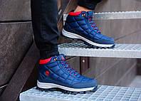 Мужские синие зимние ботинки Timberland, синие ботинки timberland, синие ботинки, ботинки timberland, фото 1