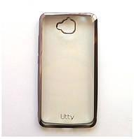 Силиконовый чехол Utty Electroplating TPU на Huawei Y6 Pro Grey