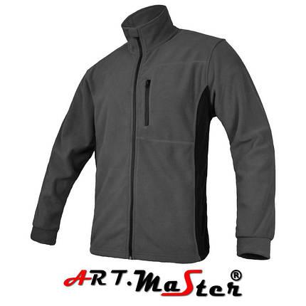 Толстовка утепленная ARTMAS серого цвета POLAR + 300 Grey, фото 2