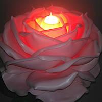 Светильник - ночник роза розовая. Ростовые цветы из изолона.