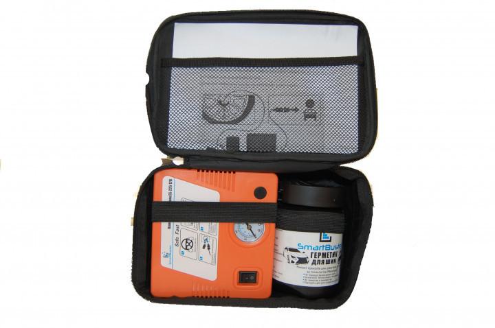 Автокомпрессор + герметик для шин Smartbuster Sil 450 мл