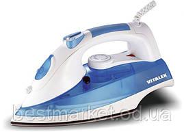 Утюг электрический Vitalex VT-1009p вертикальное отпаривание, стальная подошва