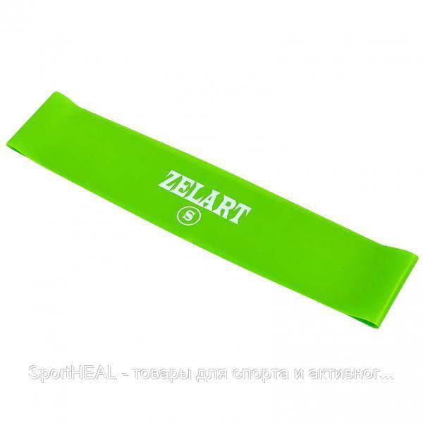 Еспандер стрічковий 6410-G Стрічка опору ZELART салатовий силікон 500x50x0,35 S