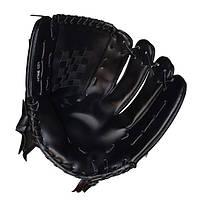 Перчатка (ловушка) для бейсбола цвет черный PVC, р-р 10,5