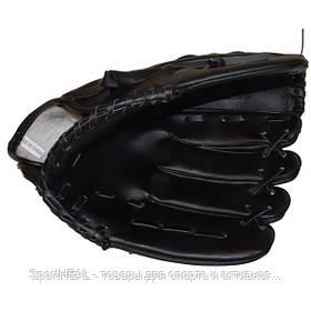 Перчатка (ловушка) для бейсбола цвет черный PVC, р-р 11,5