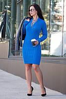 Платье женское вязаное в расцветках  25993, фото 1