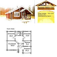 Проект дома из оцилиндрованного бревна 100,4 м2. Проект дома бесплатно при заказе строительства
